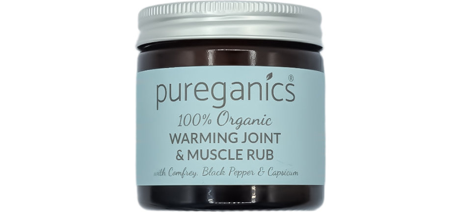 Organic Warming Joint & Muscle Rub with Aventurine Crystals
