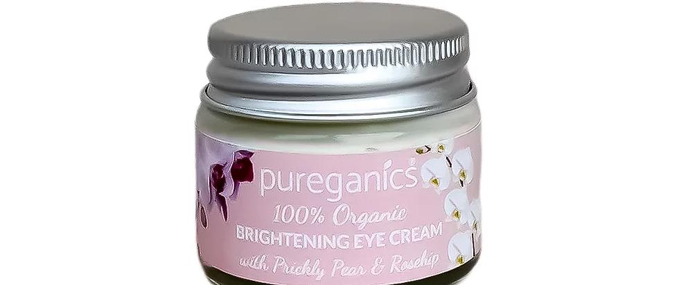 Organic Brightening Eye Cream with prickly pear & rosehip