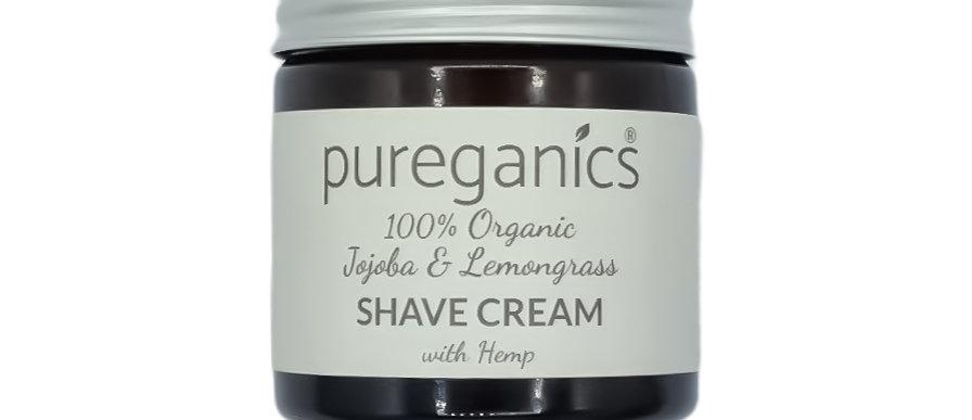 Organic Shave Cream with Hemp