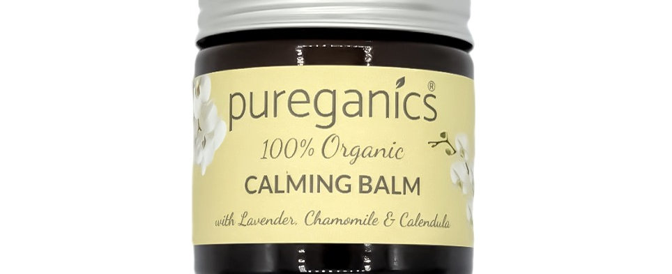 Organic Calming Balm with Cleansed & Charged Amethyst Crystals
