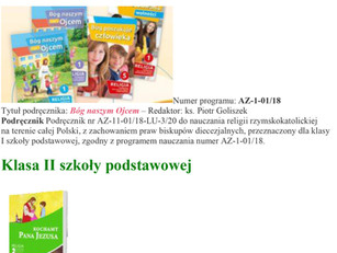Wykaz podręczników do nauki religii na rok szkolny 2020/2021