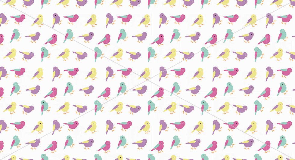 Pastel Bird pattern tile