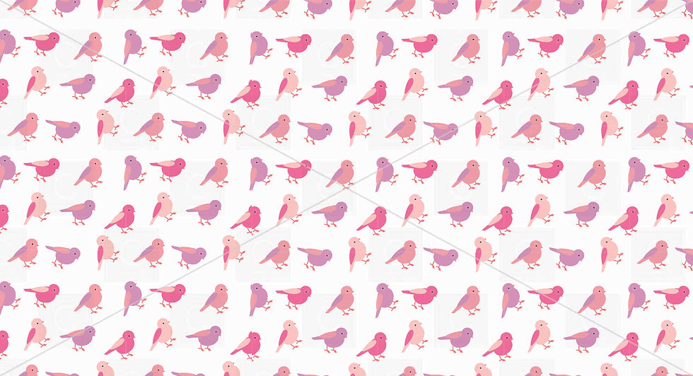 Birds Pinks and Purples pattern tile