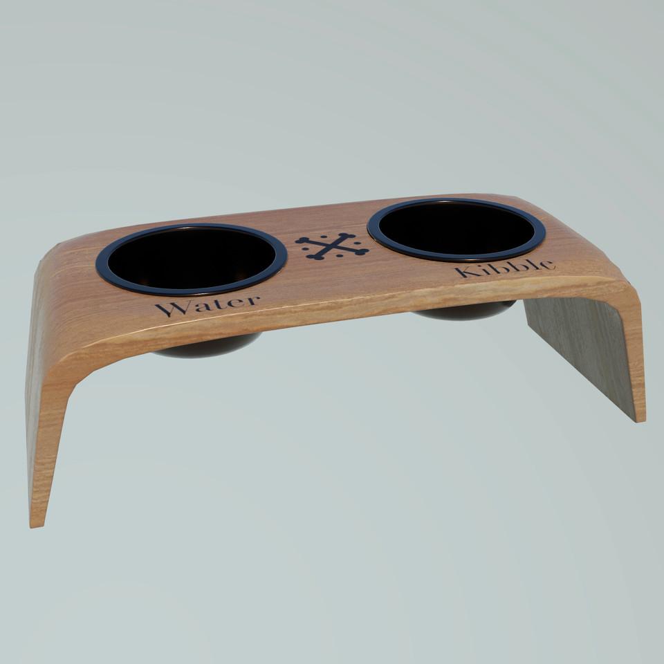 3D pet feeding stand concept