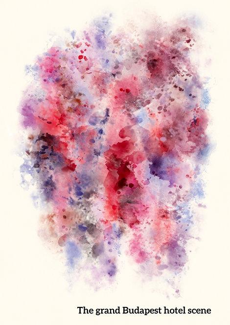 Custom film scene pantone watercolour