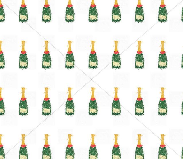 Champagne seamless pattern tile