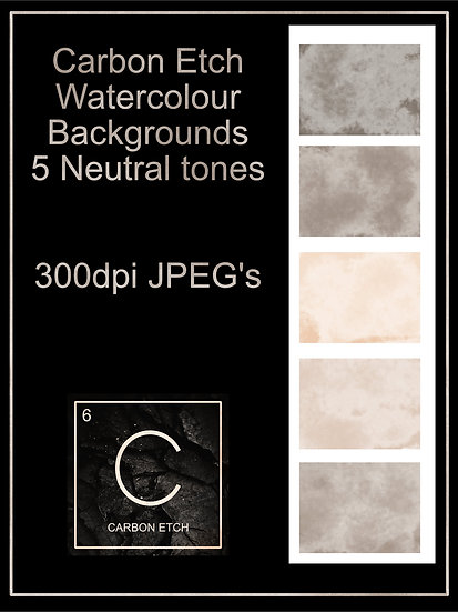 5 neutral toned watercolour backgrounds