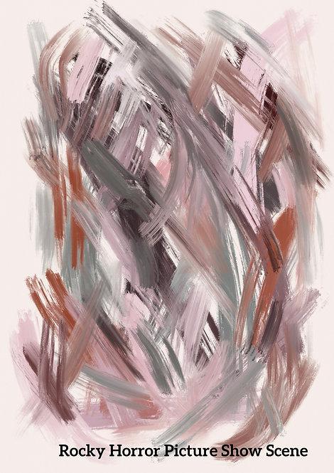 Custom film scene pantone digital oil painting