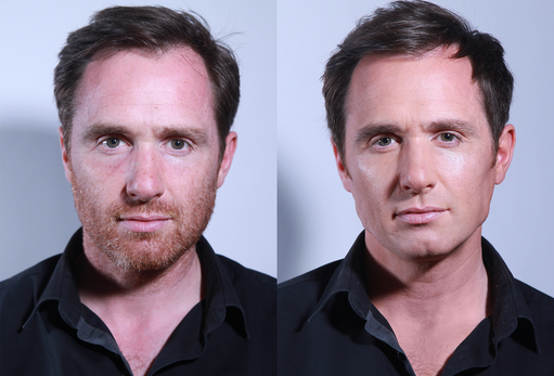 Before and After - Male grooming make-up