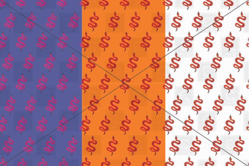Snakes trio pattern tiles