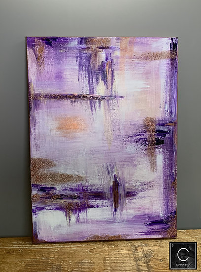 Purple and copper abstract acrylic