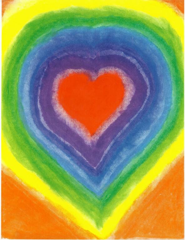 Glowing Rainbow Heart - Ruth Virginia Barton