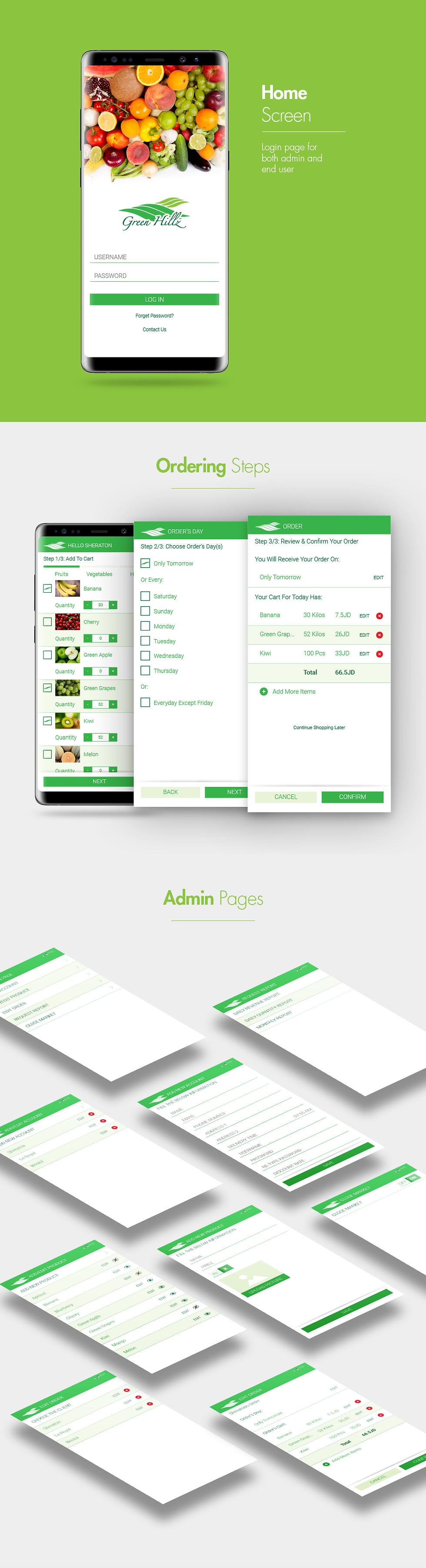 GreenHillz Mobile App Design