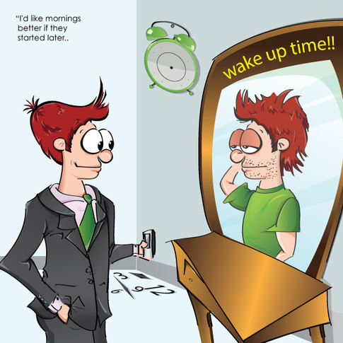 I would like mornings better if they started later