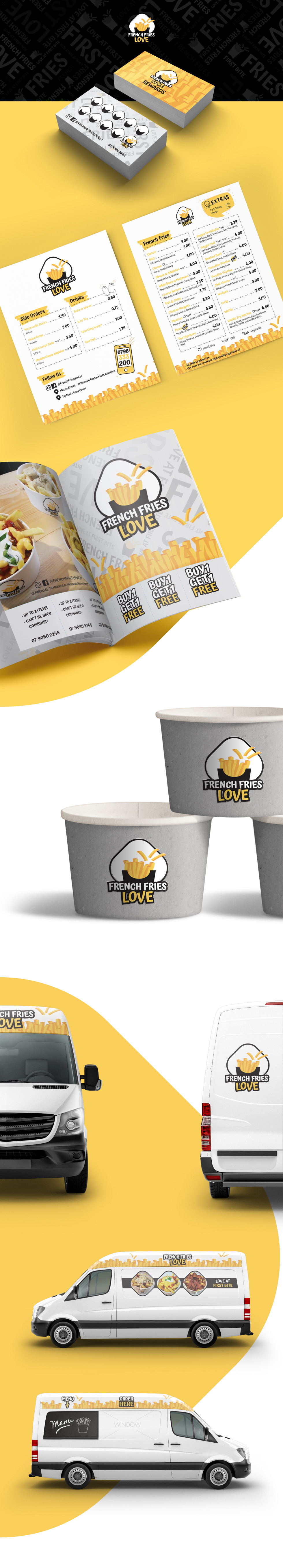 French Fries Love Branding and Designs