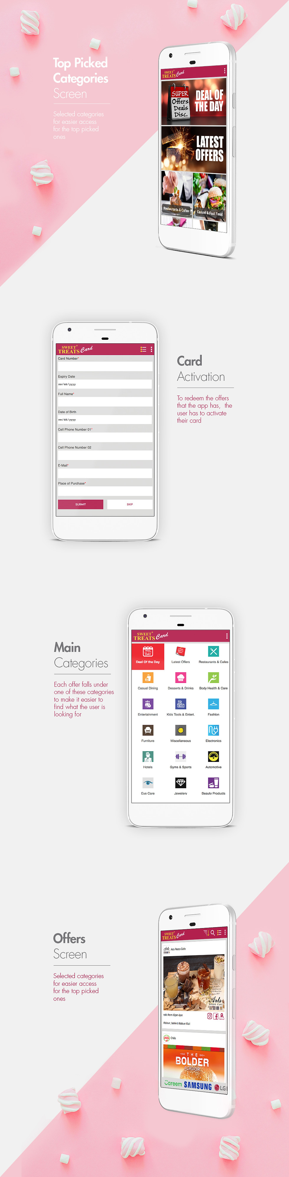 Sweet Treats Mobile App Design
