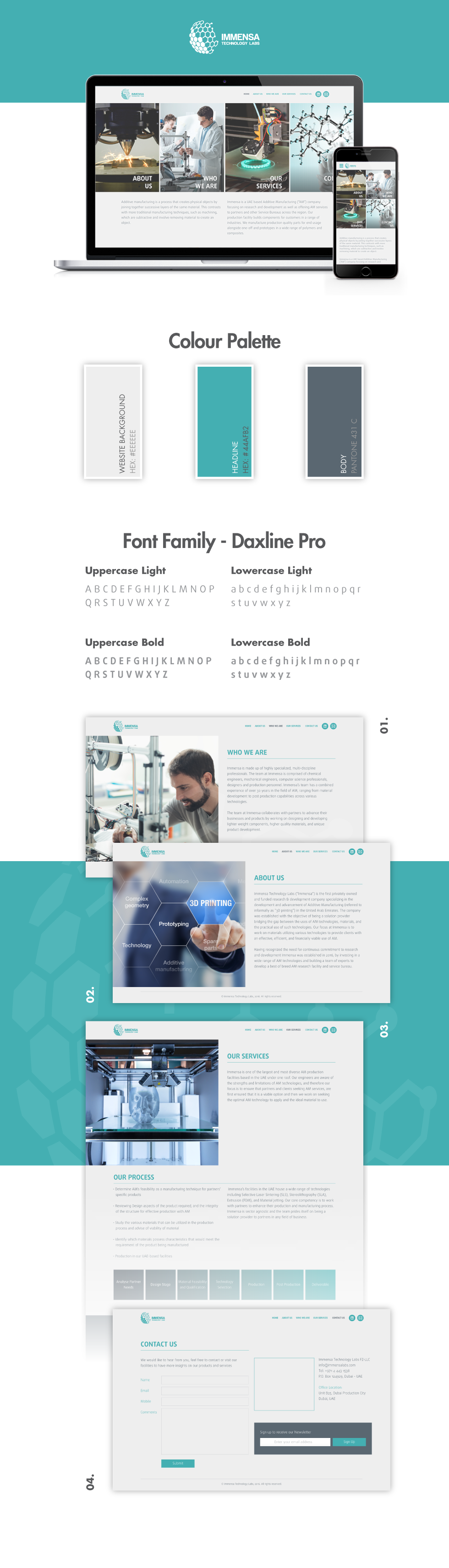 Immensa Technology Labs Website Design