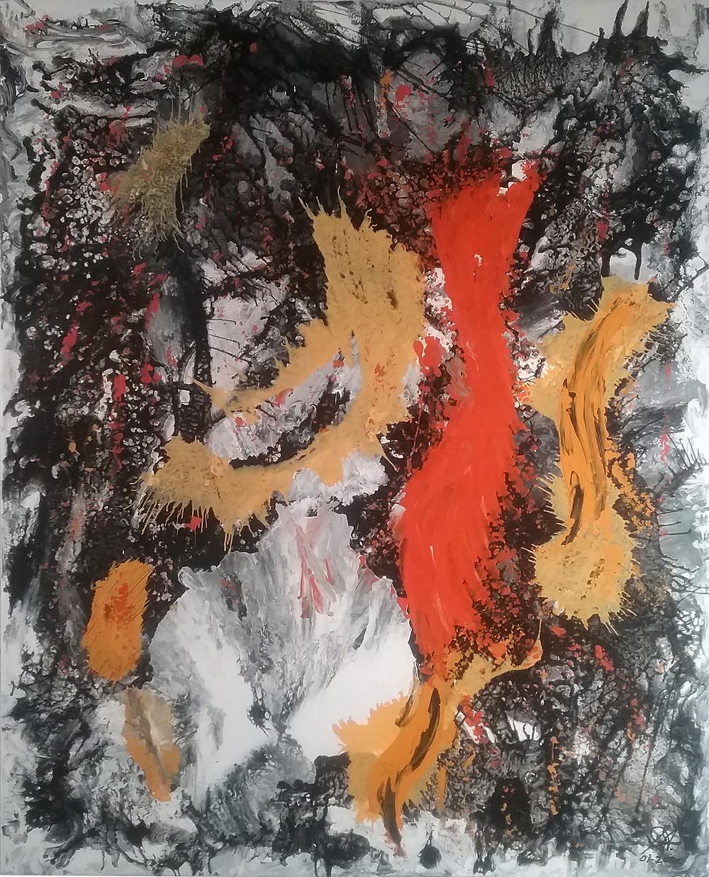 Makes no sense colourful abstract painting