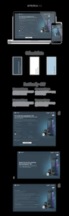 Pre-Order Xperia XZ Sony Mobile Webpage Design