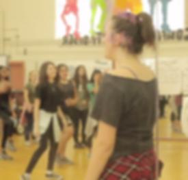 Dance teacher teaching children at Pasadena Public School
