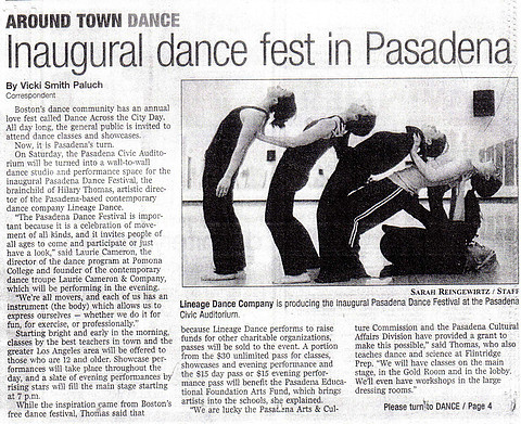 Star News - Inaugural Dance Fest in Pasa