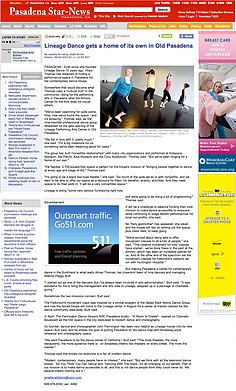 Pasadena Star News - Lineage Dance gets
