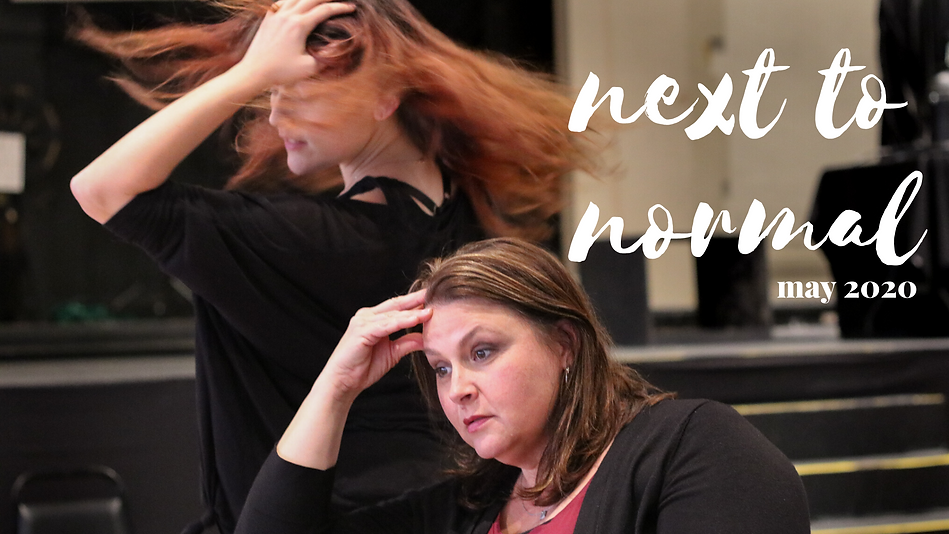 2 women rehearsing for Next to Normal Production at Linage Performing Arts Center