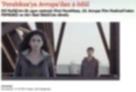 Ferahfeza filmi 13. Avrupa Film Festivali'nden kazandığı ödül ile ilgili ntvmsnbc'nin haberi