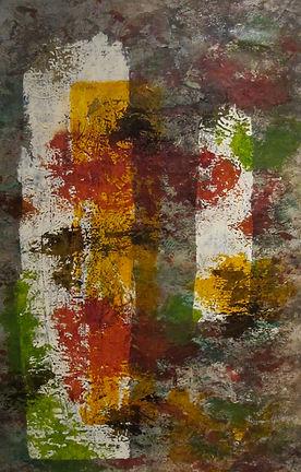 """PARCHEMIN, 34 x 27"""" Acrylique sur toile"""