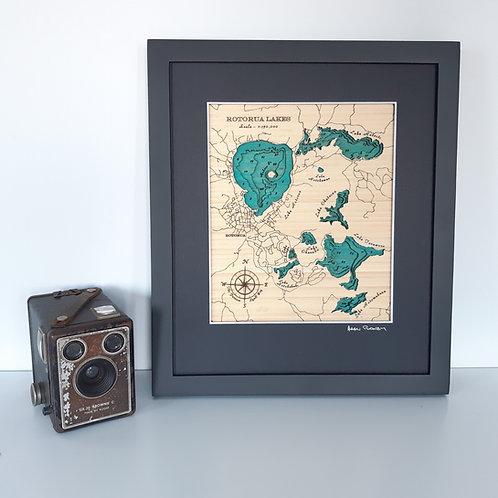 Rotorua Lakes Sml 30 x 38
