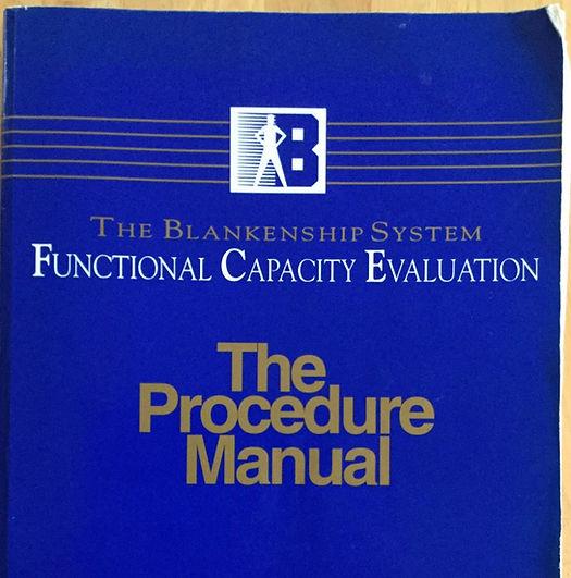 Blankenship FCE Training, Blankenship FCE Testing, Functional Capacity Evaluation