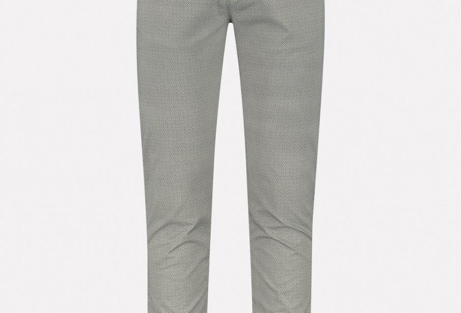 Chino pants mini pattern twill