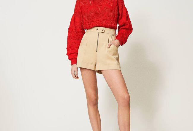 Shorts de cintura alta   - Twinset