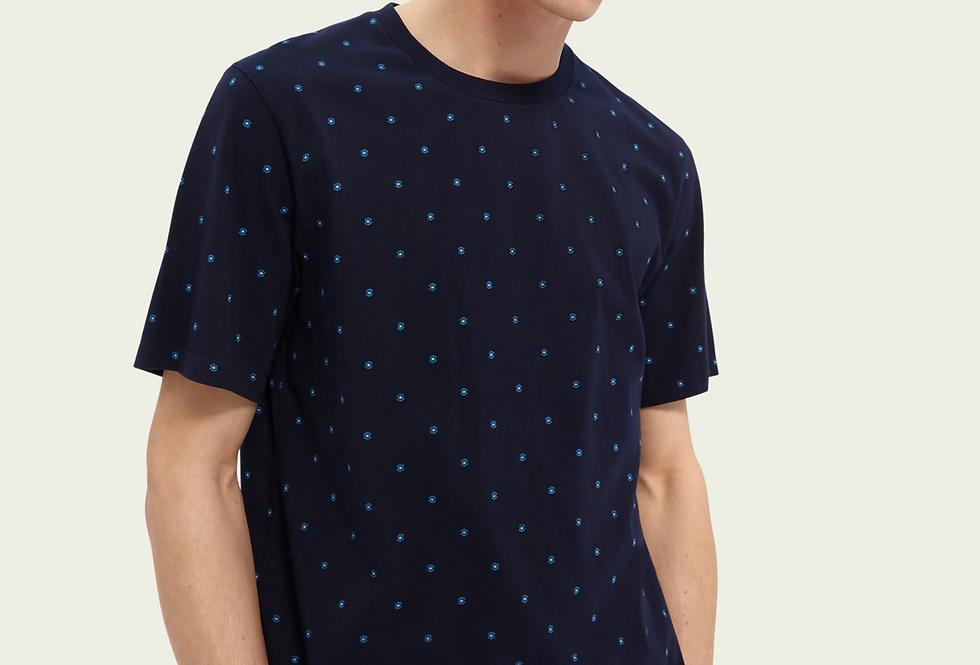 Camiseta crewneck de algodão  -Scotch