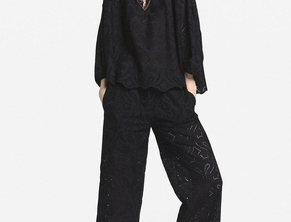 Blusa bordada de algodão -Ottod'Ame