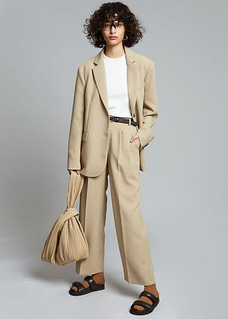 oversized-double-button-suit-blazer-beig