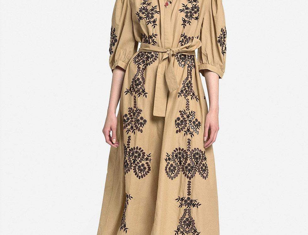 Vestido de algodão bordado  -Ottod'Ame