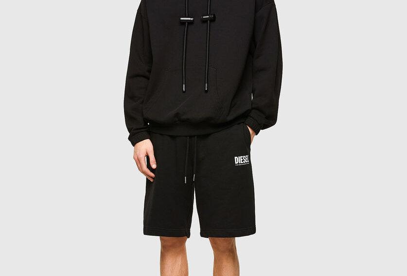 Shorts com estampa de logotipo  -Diesel