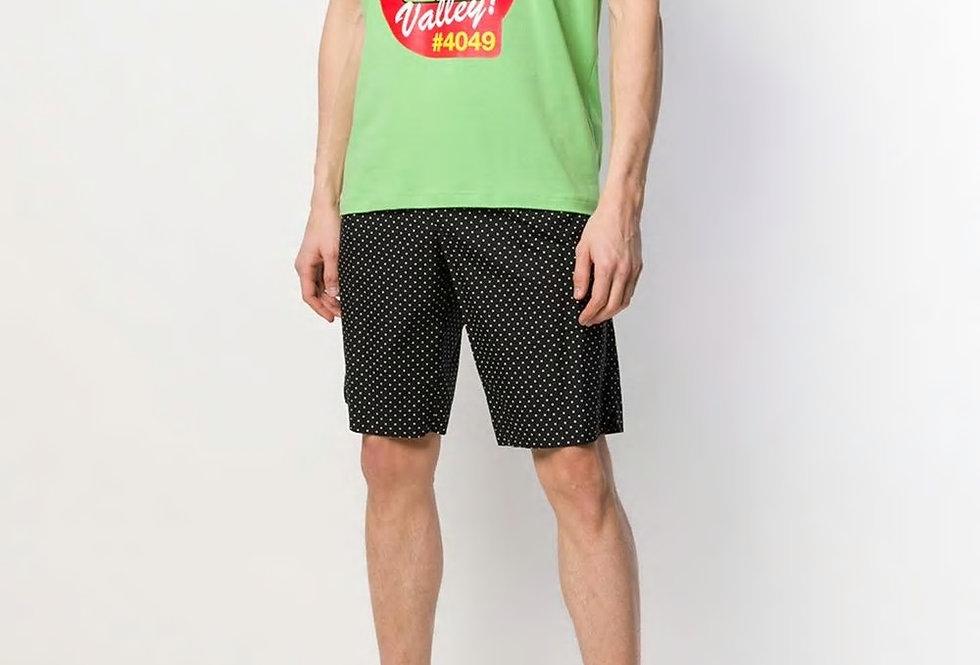Love Moschino Valley label print T-shirt