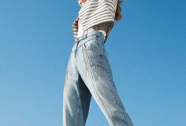Jeans com franjas  - Twinset