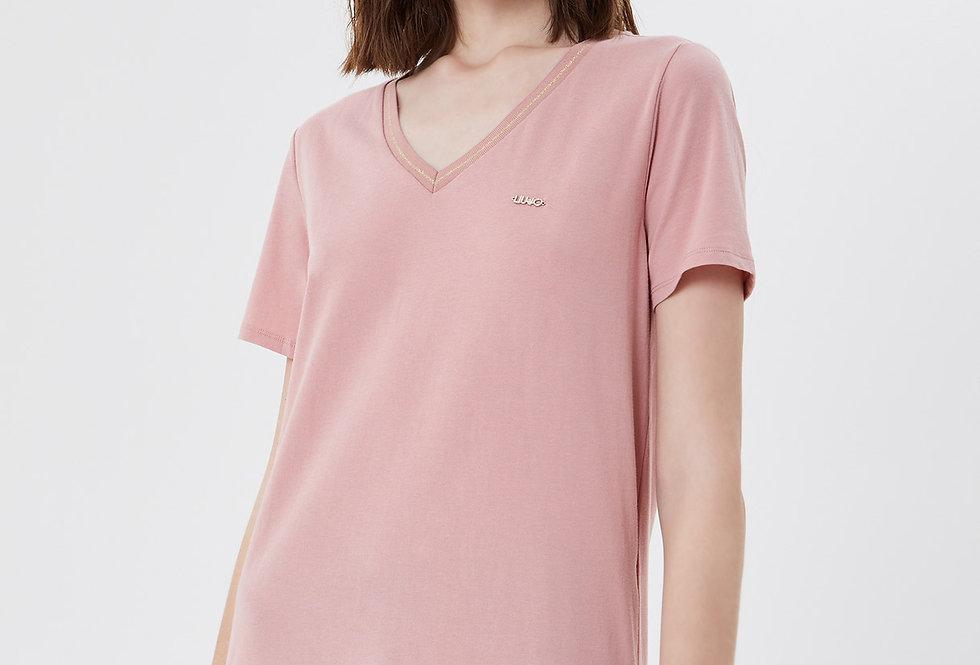 Camiseta com flounces assimétricas  Liu.jo