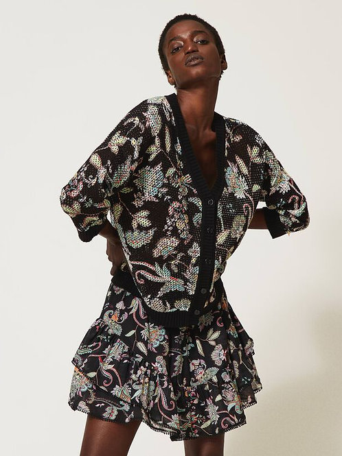 Floral cardigan-jumper - Twinset