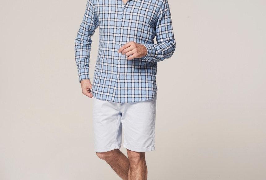 Check shirt linen