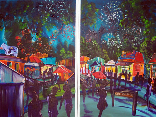 Canberra Show ' fireworks' diptych