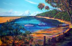 low tide bustard bay