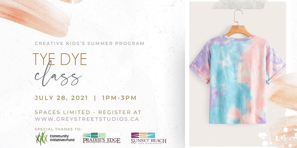Kids Tye Dye Class