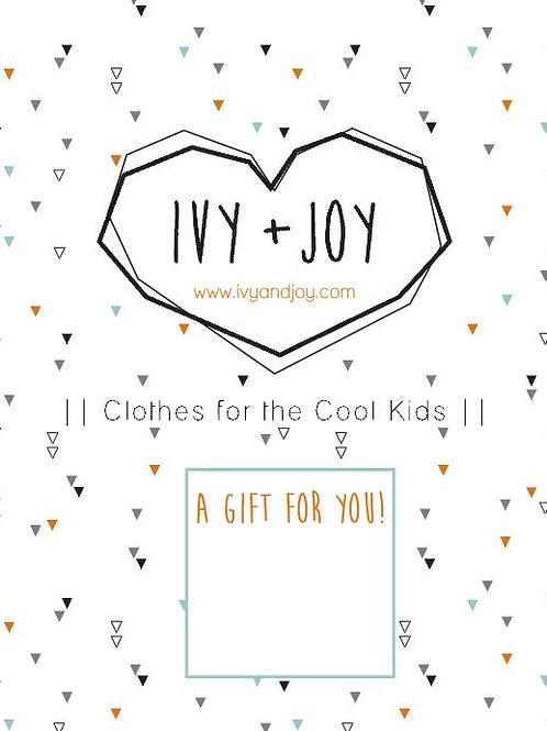 Ivy + Joy Gift Card