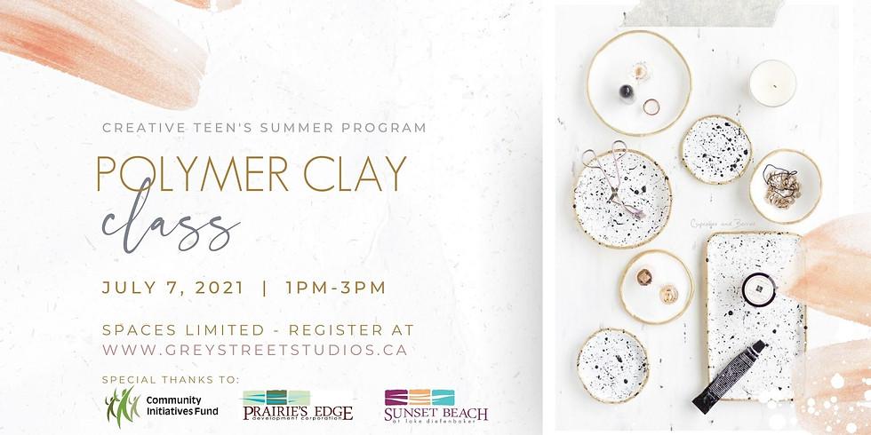 Teen Polymer Clay Jewelry + Trinket Trays