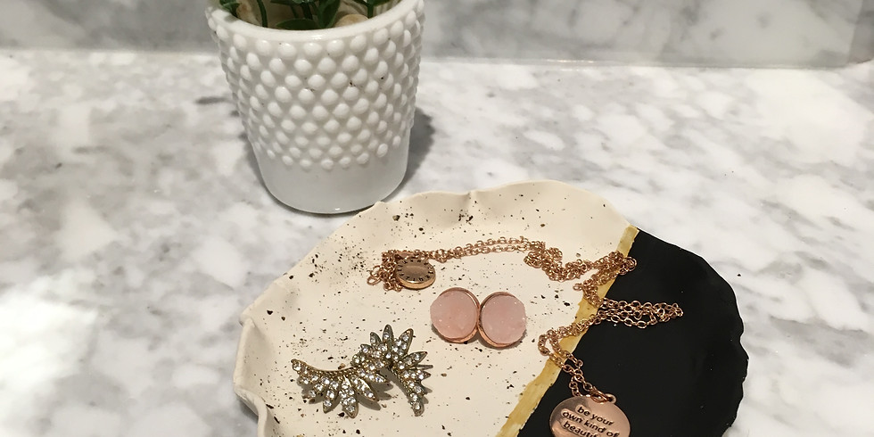 Make-up Bags + Clay Jewelry Holder