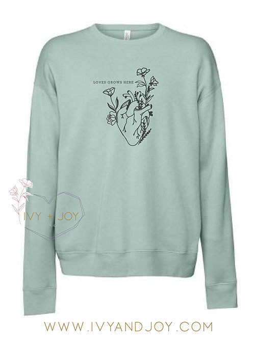 LOVE GROWS ADULT SWEATER